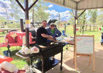 grilling at ranch