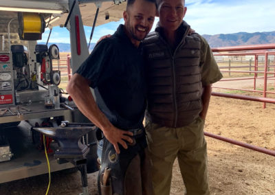 two men at little raven ranch